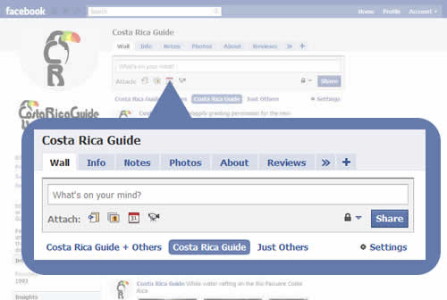 Facebook - Modify Tabs, Add an Update, Set Display