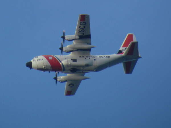 U.S. coast guard plane in Costa Rica