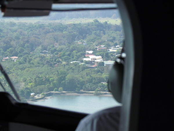 Puerto Jimenez from the air
