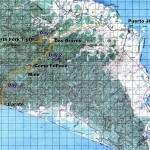 Trekking route across the Osa Peninsula